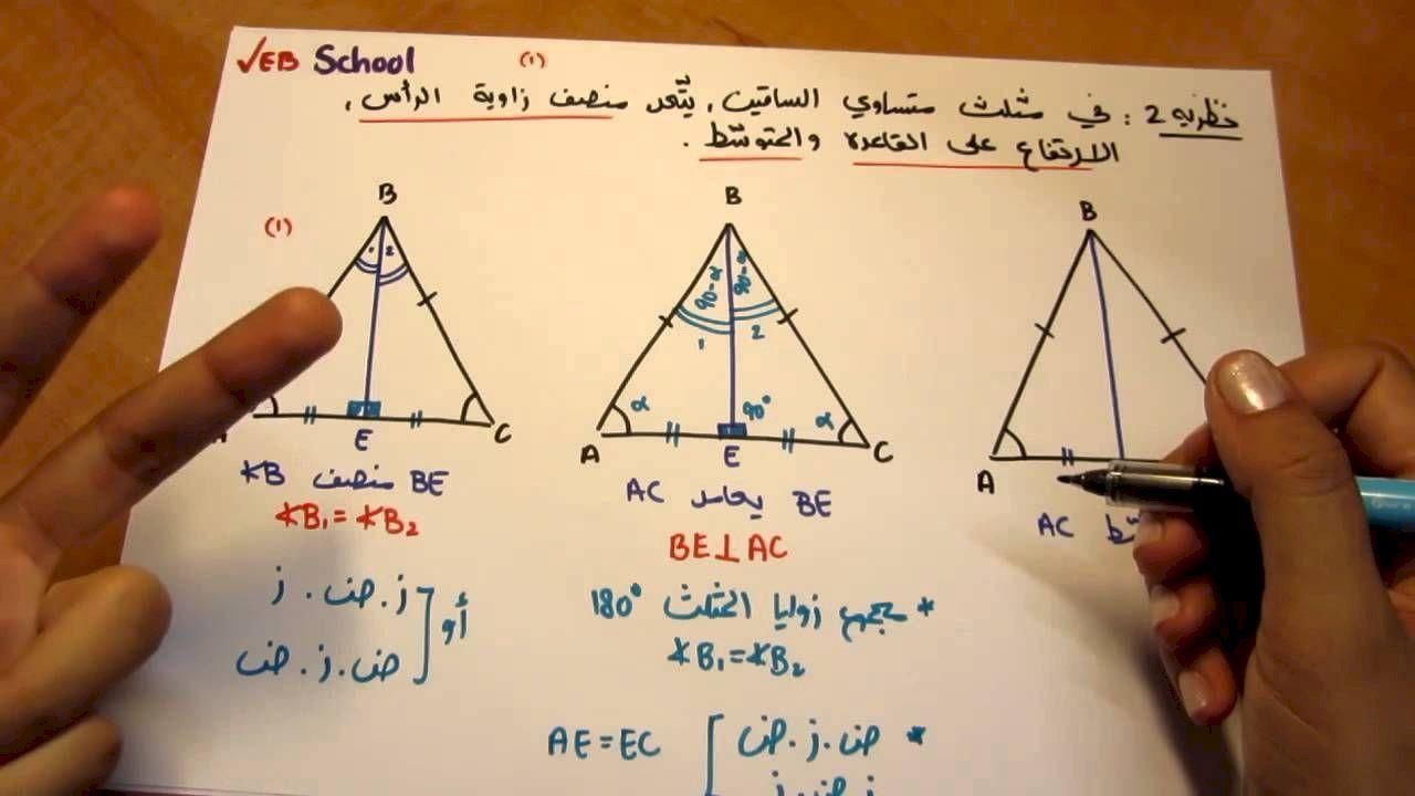 طريقة حساب مساحة المثلث School B B Triangle