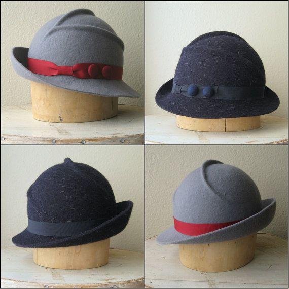 9127041fc26 Custom Felt Hat Vintage Inspired Style Femme Noir Hat