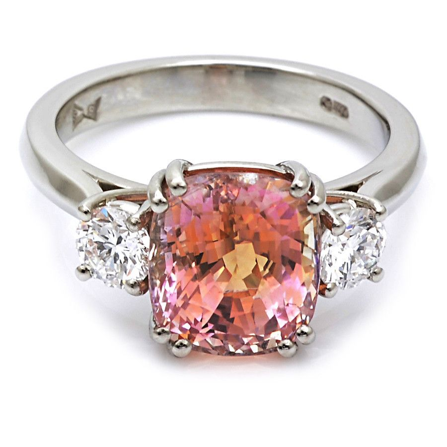 with set shoulders padparadscha motif at jewels christie diamond trifurcated kong surround pin oval cut approximately from may floral hong a magnificent brilliant the weighing s auction within an earrings carats and shaped sapphire gallery