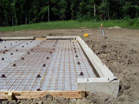 How To Pour A Concrete Foundation Concrete Slab Foundation Concrete Diy House Foundation