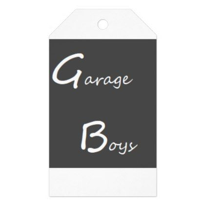 Garage Boys Logo Gift Tags Zazzlecom Boy Gifts Gift Tags
