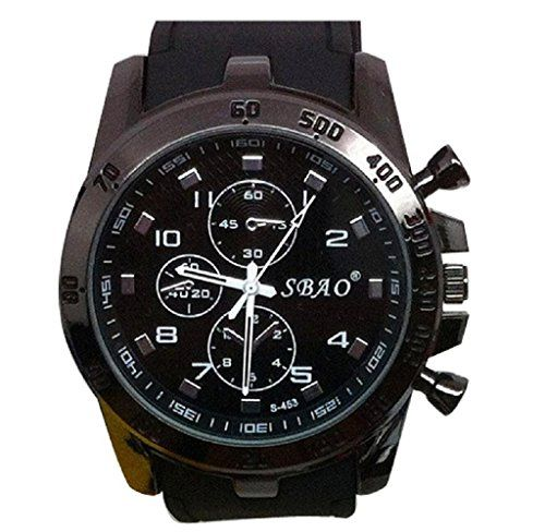 Mandy Stainless Steel Luxury Sport Analog Quartz Modern Men Watch Black -- You can find more details by visiting the image link.Note:It is affiliate link to Amazon.