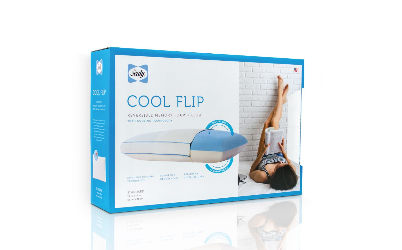 Sealy Cool Flip Pillow Packaging Cool Stuff Sealy Memory Foam Pillow