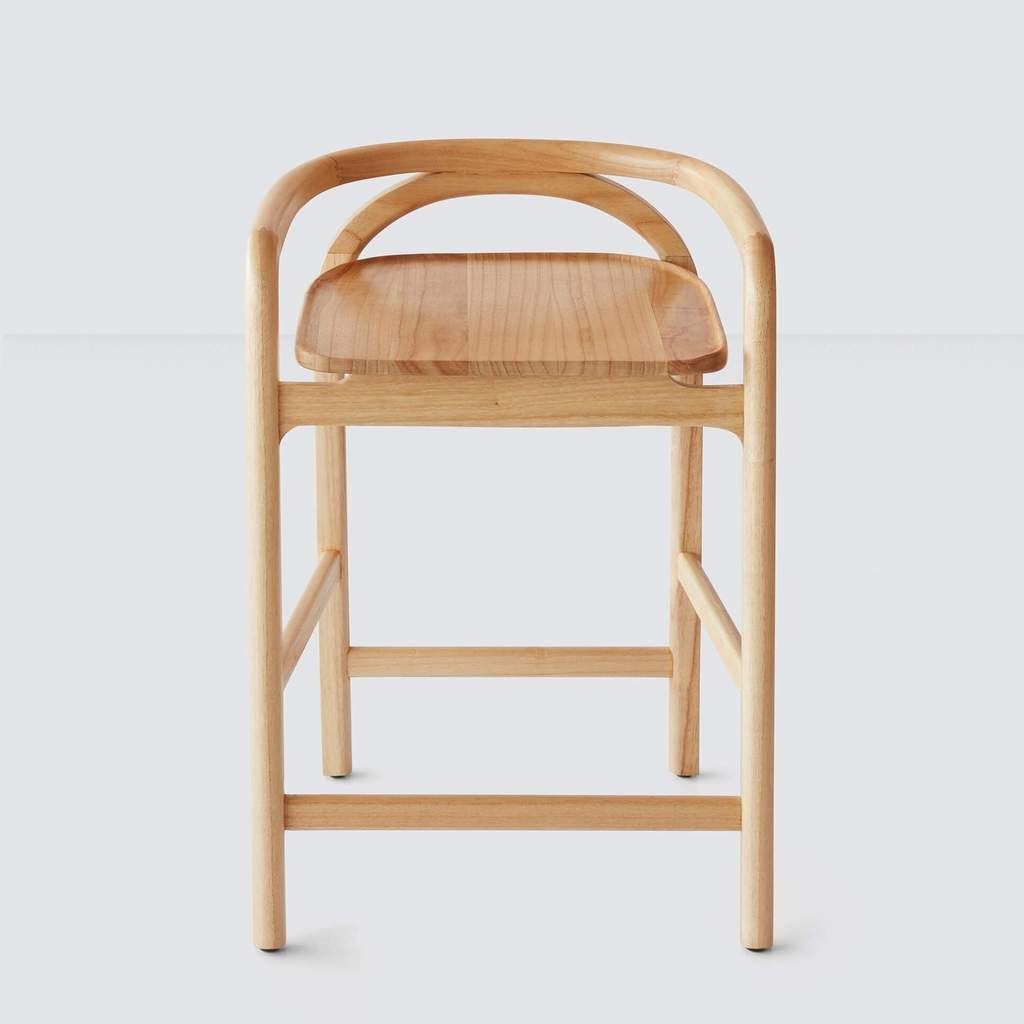 Meru Counter Stool Mindi With Images Wood Counter Stools