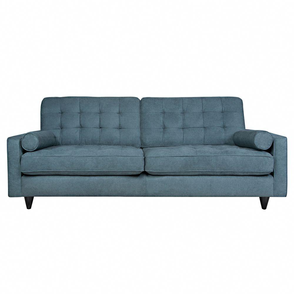Angelo Home Laura Parisian Blue Evening Velvet Sofa