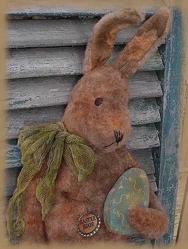 Standing Rabbit with Eggs