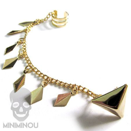 Ear Cuff com base triangular