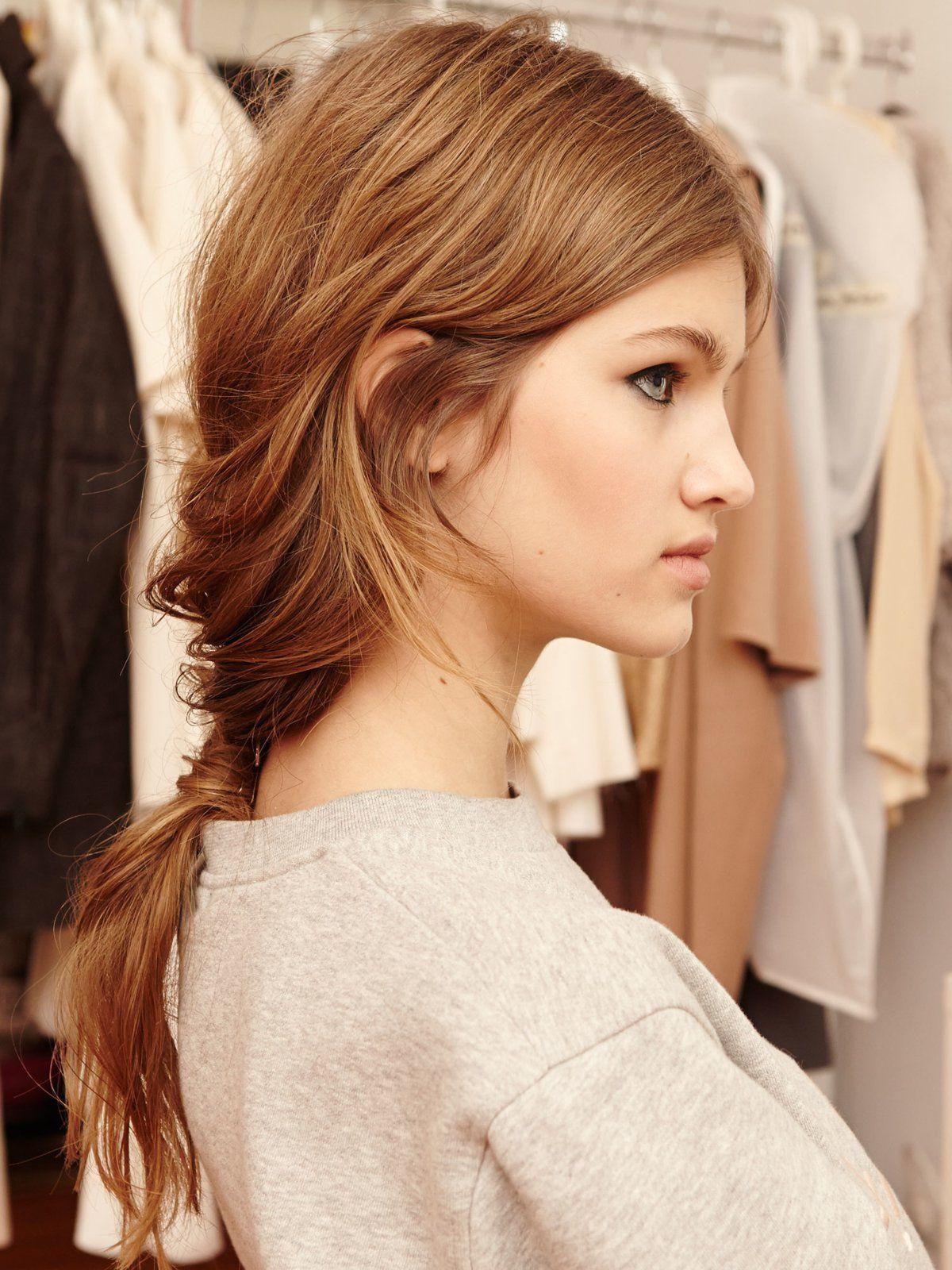 Eingedrehter Ponytail Haare Frisuren Damen Frisuren Damen