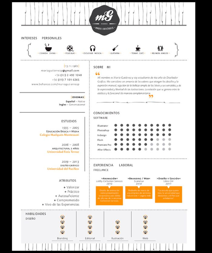 50 ejemplos de curriculums originales | cv | Pinterest | Curriculums ...