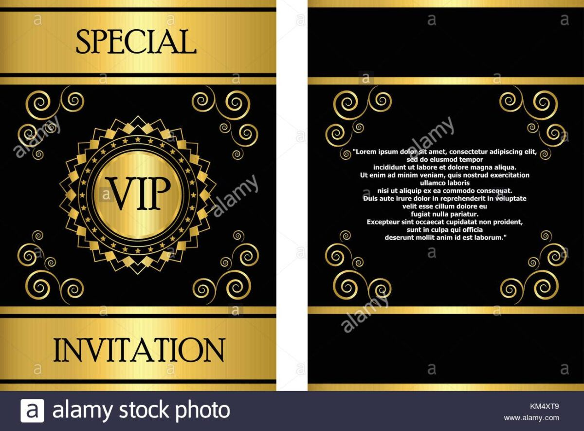 A Golden Vip Invitation Card Template That Can Be Used For Pertaining To Event Invitation Card Templat Invitation Card Sample Event Invitation Invitation Cards