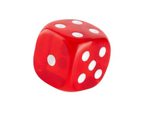 Red Dice Red Color Piggy Bank