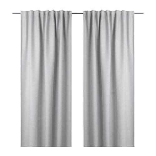 vilborg gardinenpaar hellgrau blickdichte gardinen gardinenstangen und schirmen. Black Bedroom Furniture Sets. Home Design Ideas