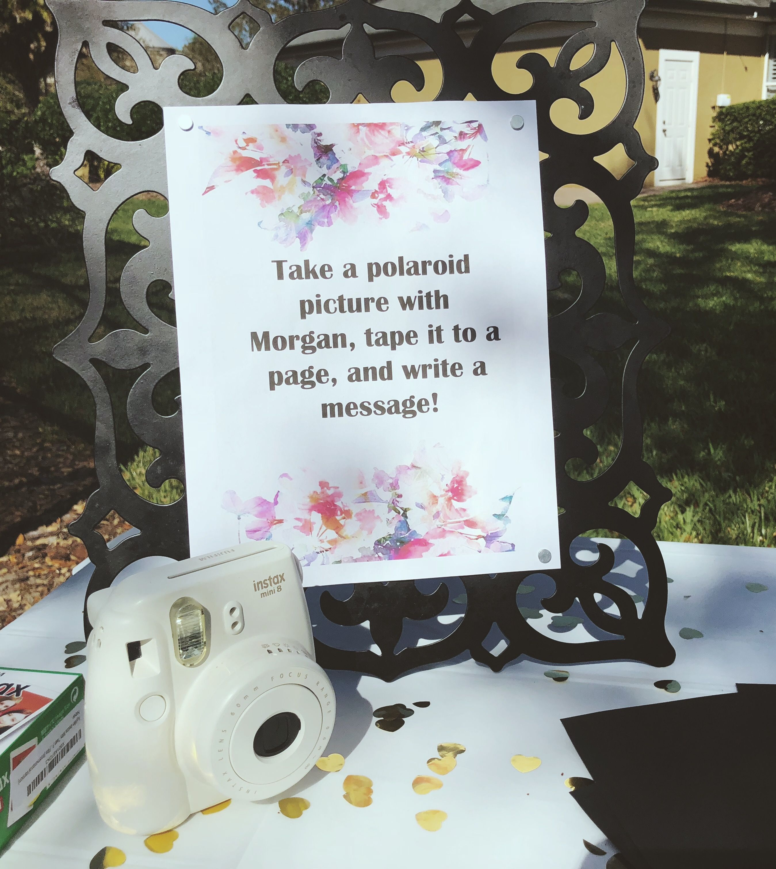guest book idea for sweet 16 party polaroid photo sweet 16