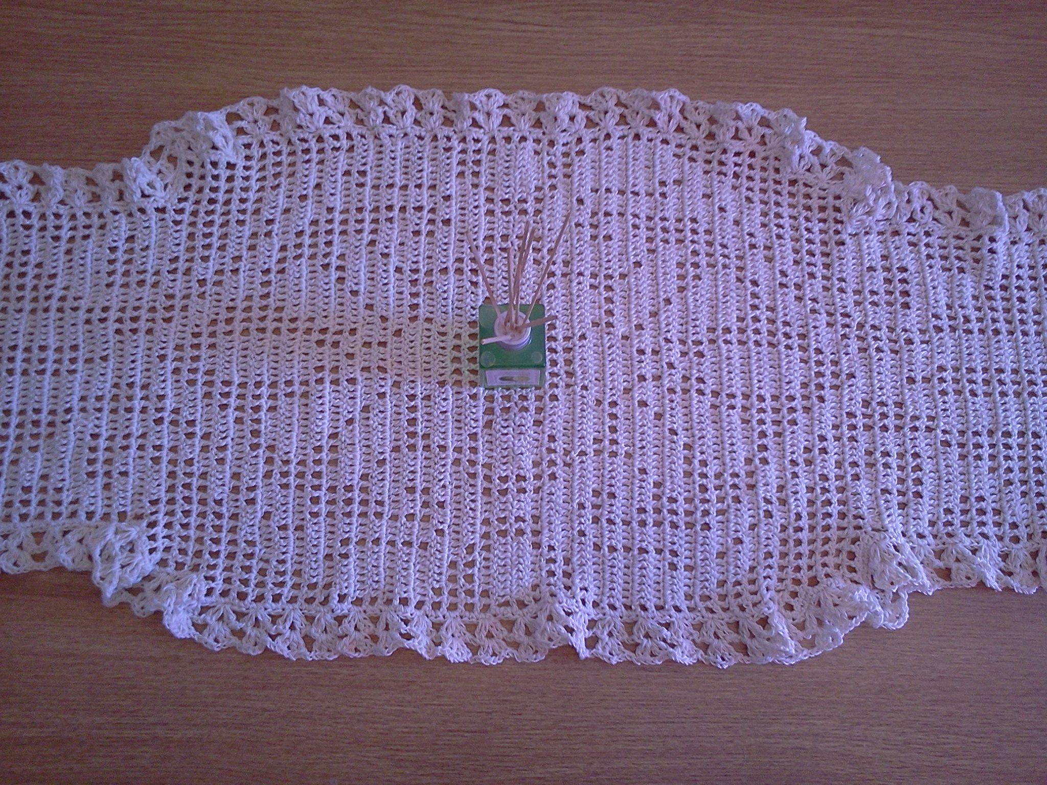 Camino de Mesa. tejido a crochet hilo macrame | Tapetes - manteles y ...