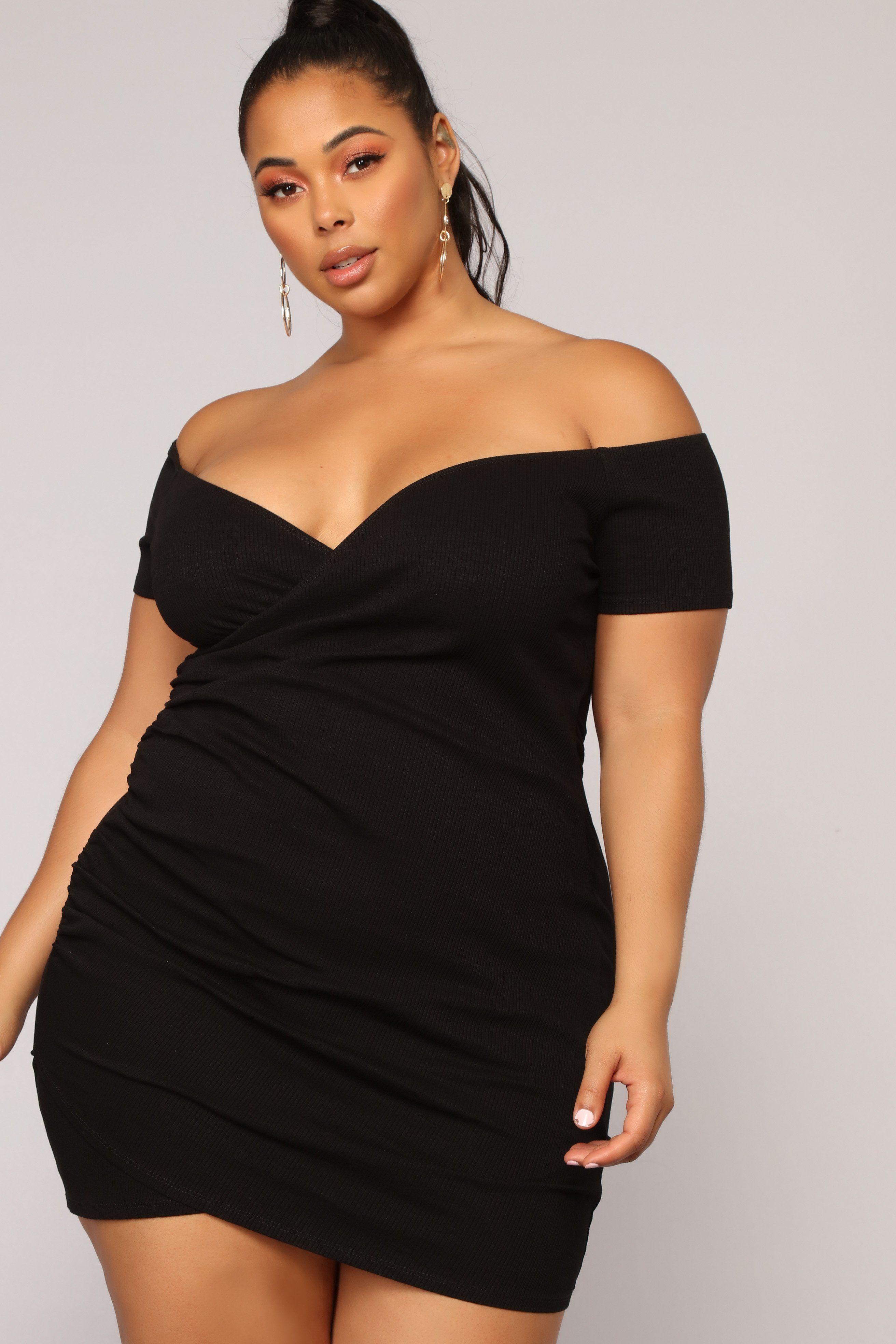 The Night We Met Dress Black in 2020 Plus size black