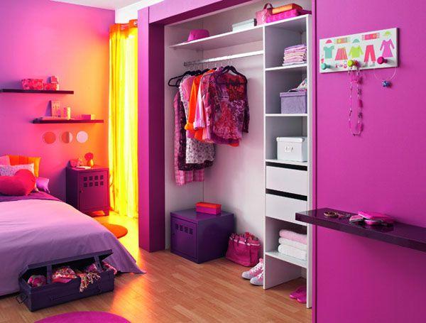 Chambre de fille avec du peps | Mariages de couleurs | Pinterest ...