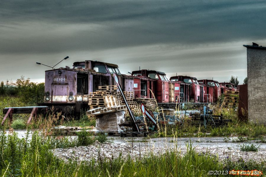 Old locomotives in Germany