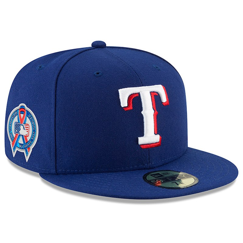 dda3552b Texas Rangers New Era 2018 9/11 Authentic Collection 59FIFTY Fitted Hat –  Royal