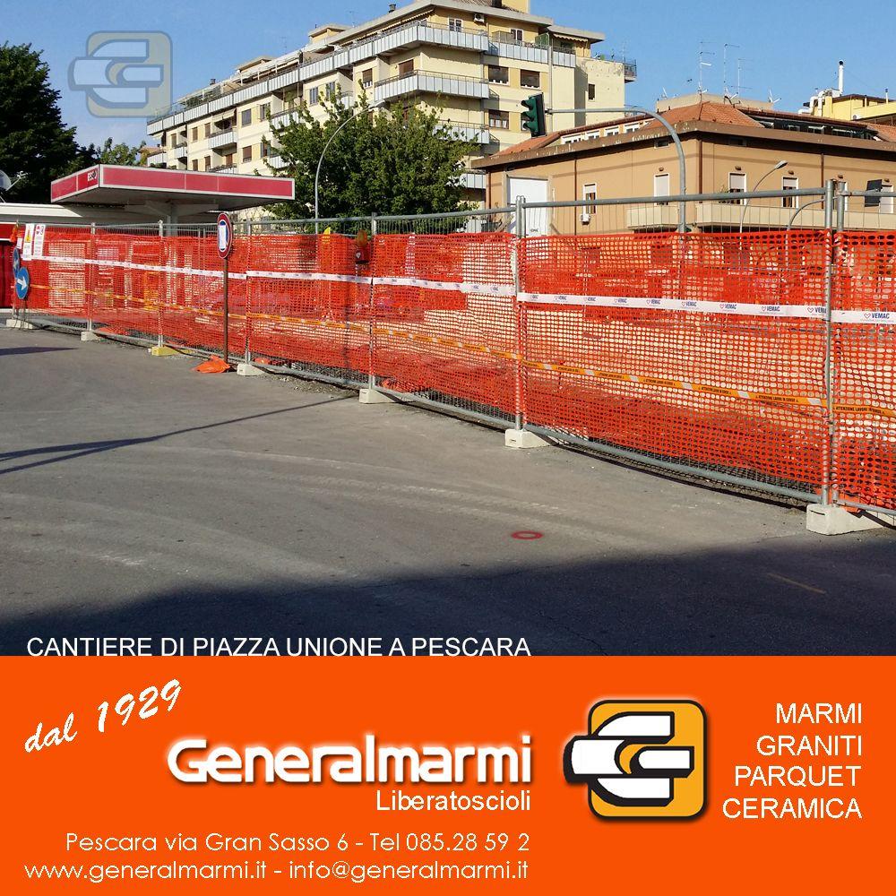 Cantiere di Piazza Unione a Pescara