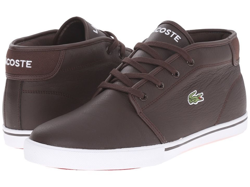 40451c34c430 Men s Shoe Lacoste Ampthill LCR3 Leather Sneaker 7-31SPM0098DB2 Dark Brown   New  in Clothing