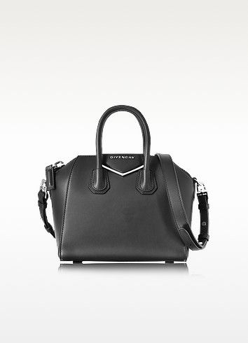 63673260d2 GIVENCHY ANTIGONA MINI METAL BLACK LEATHER SATCHEL BAG.  givenchy  bags   canvas  leather  lining  satchel  shoulder bags  hand bags