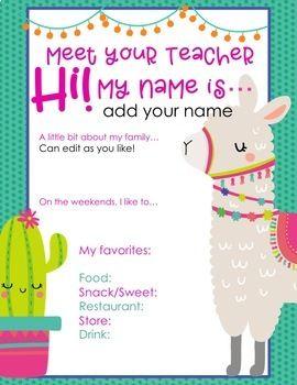 Meet the Teacher Back to School Pack #meettheteachernight