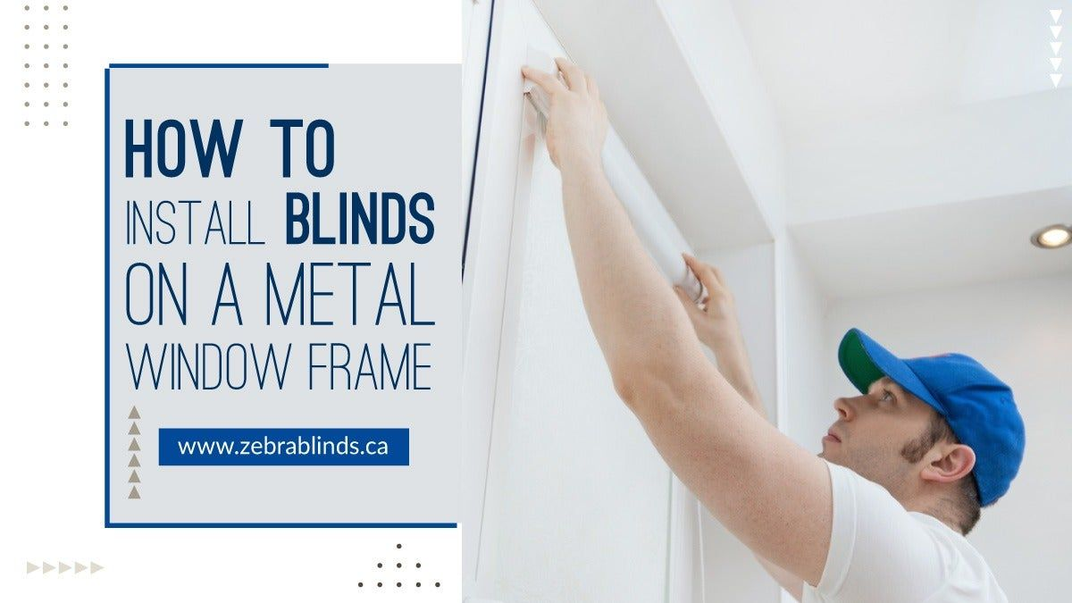 How to Install Blinds On a Metal Window Frame | Vinyl window frame, Window frame
