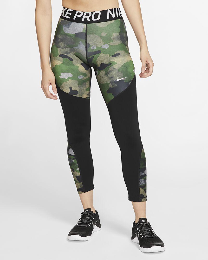 Nike Pro Icon Clash Women's 7/8 Camo Tights.