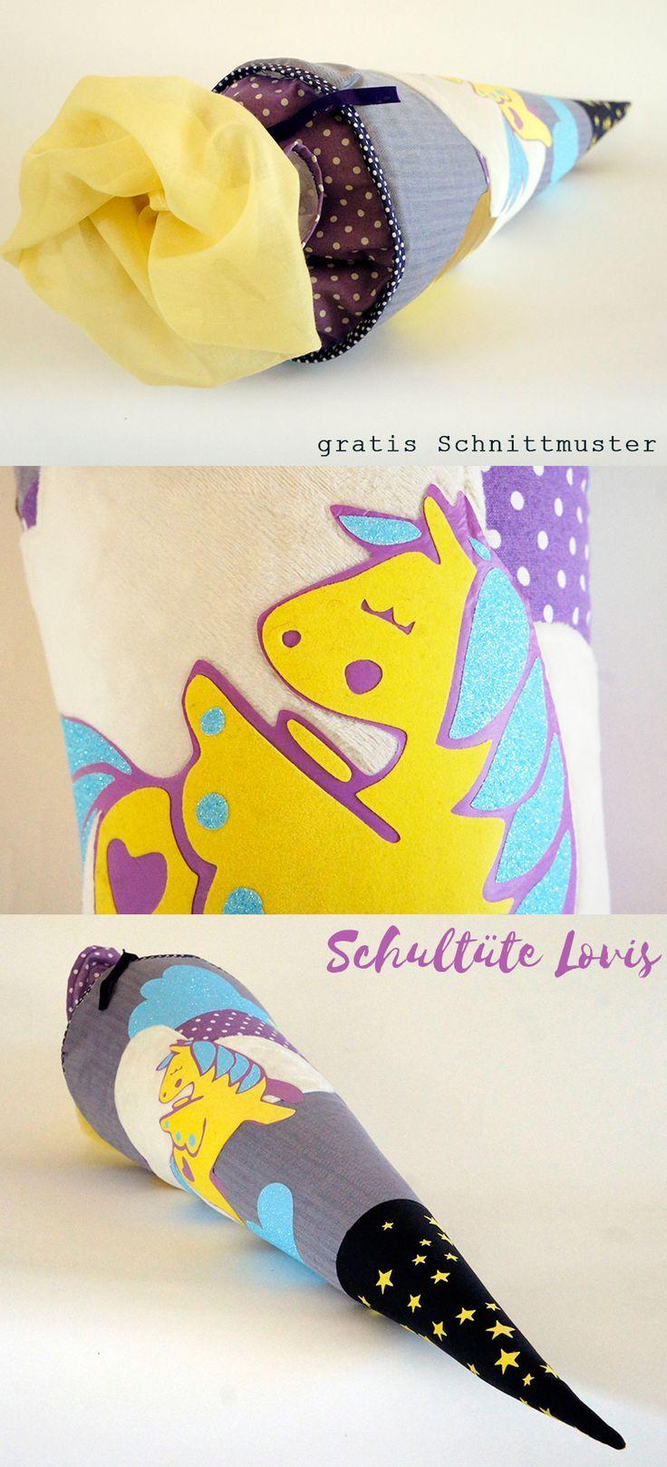 Pferde Schultüte Lovis | Gratis schnittmuster, Schultüte und ...