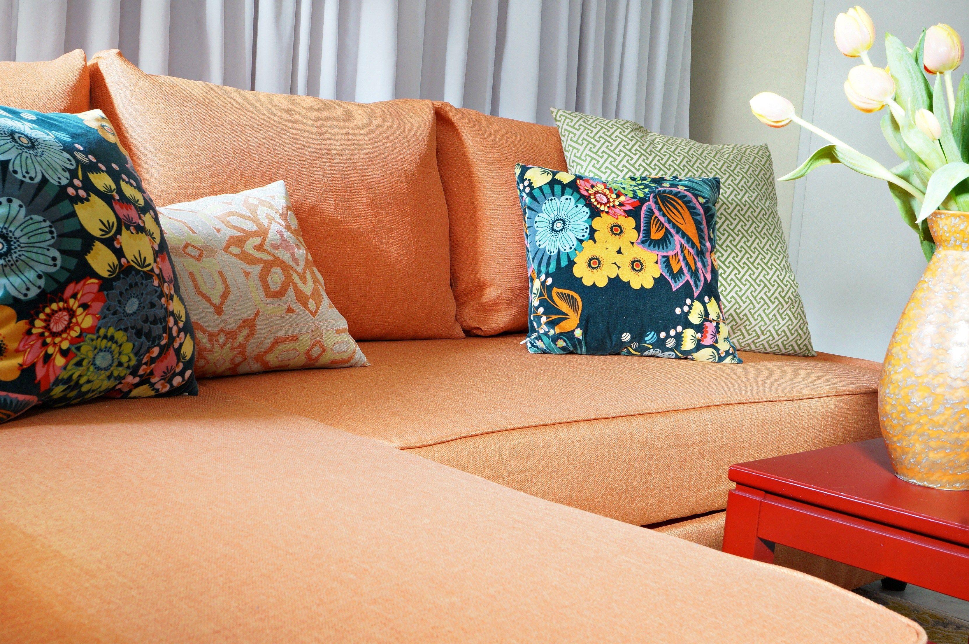 Ikea Orange Sofa Bed Google Search