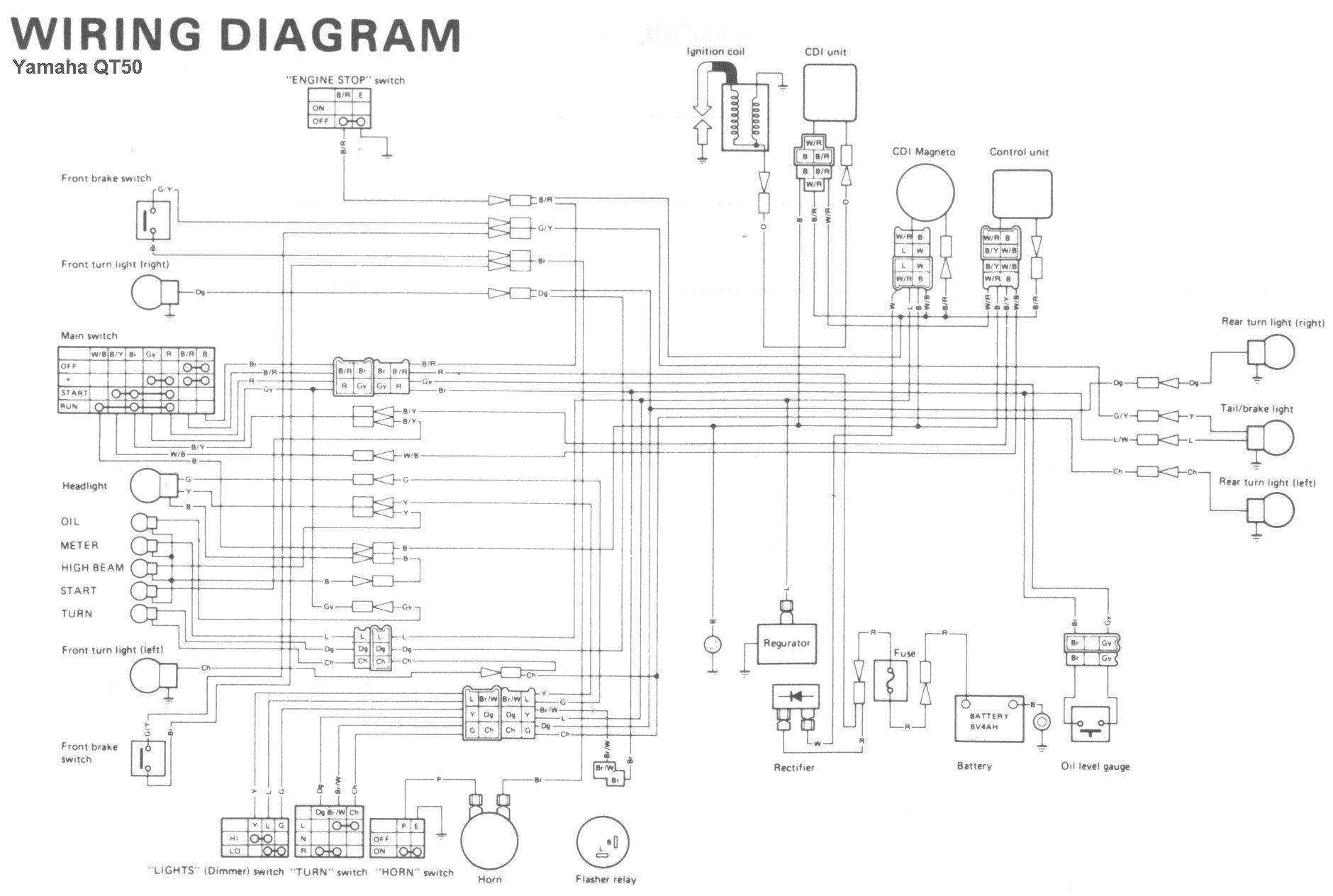 Free Wiring Diagram Of A Qt50 Yamaha Moped