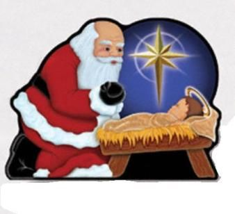 image result for kneeling santa coloring page