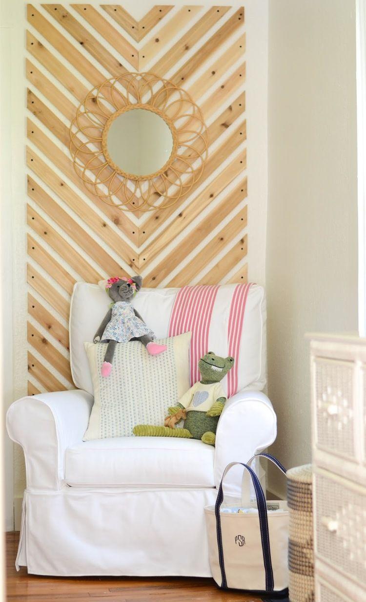 Blogger Stylin\' Home Tours | Pinterest | Chevron accent walls ...