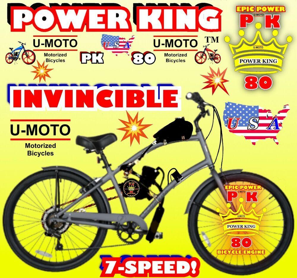 Advertisement Ebay 66cc 80cc 2 Stroke Motorized Bike Kit And 26