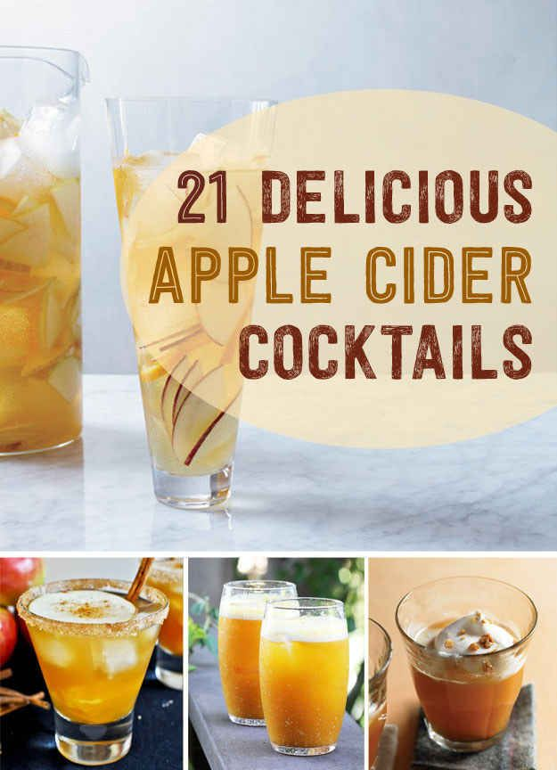 21 Boozy Cider Drinks To Try ThisFall - When cozy autumnal debauchery is your goal, both hard and soft ciders are great things to build a drink on. www.LiquorList.com @LiquorListcom #LiquorList
