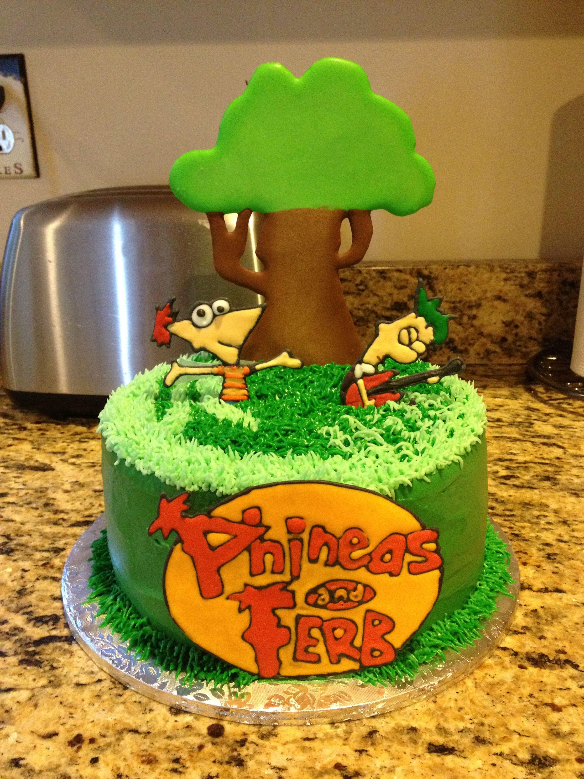 Colorflow Phineas and Ferb cartoon cake ) Cartoon cake