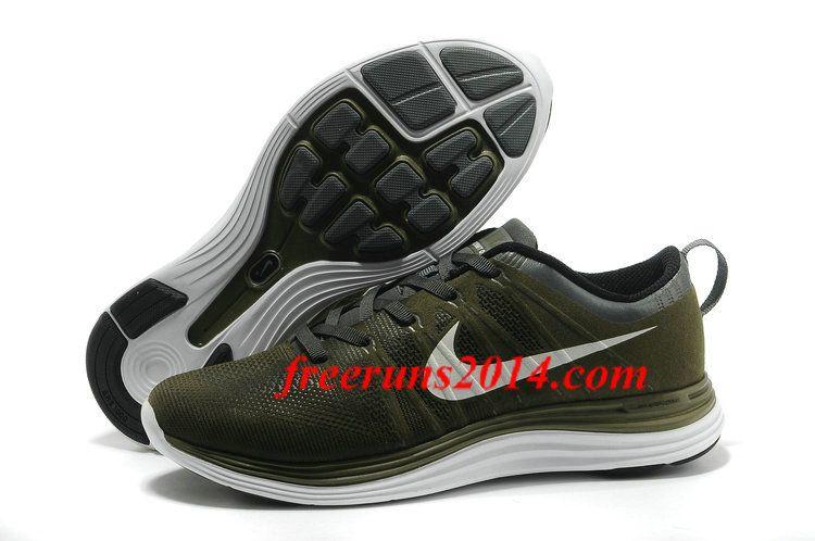 Nike Flyknit Lunar1 Sequoia White Black Dark Grey Mens Training Shoes