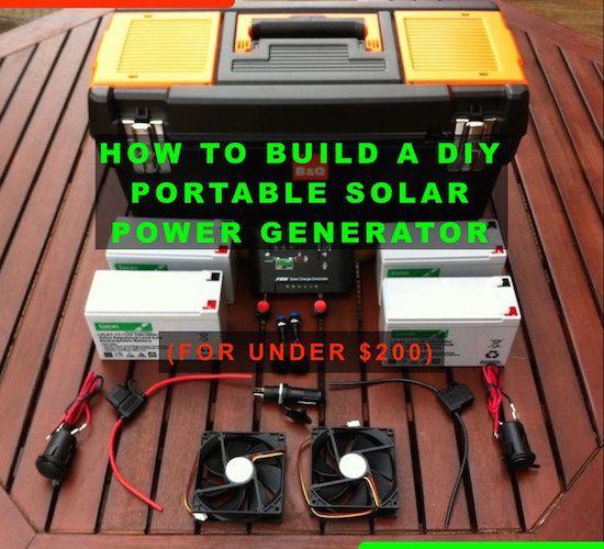 Diy Portable Solar Power Generator Portable Solar Power Solar Power Diy Power Generator