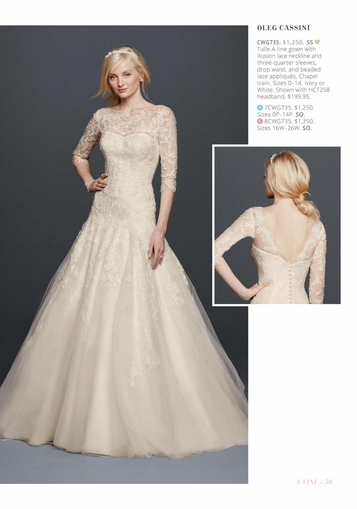 c703f56a339c David's Bridal Online Catalog I love the back of the dress. not the front