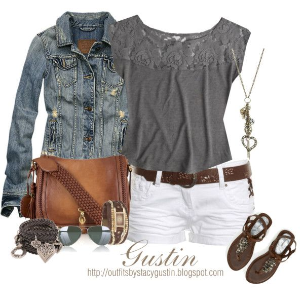 """""""brown and gray"""" by stacy-gustin on Polyvore"""