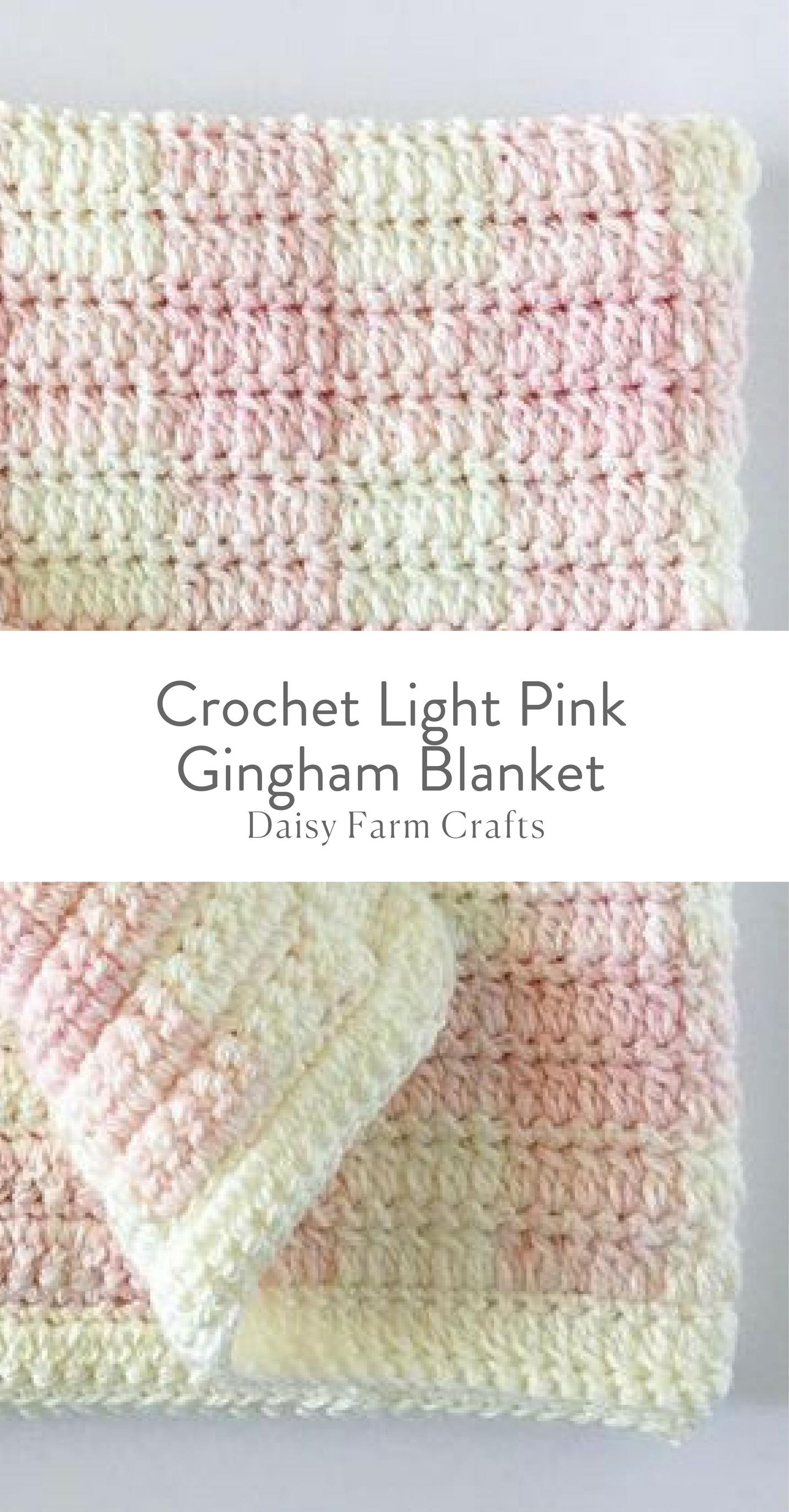 Crochet Light Pink Gingham Blanket - Free Pattern | Crochet ...
