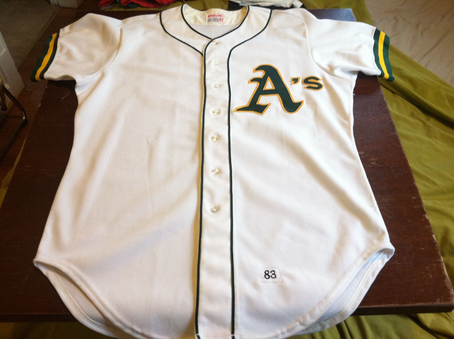 best website 3496e 70f7f Vintage 1983 Oakland A's Jersey/ Authentic RARE Wilson Made ...