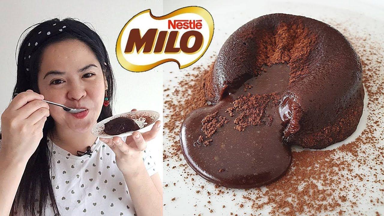 No Bake Milo Molten Lava Cake Asg Youtube Molten Lava Cakes Lava Cakes Molten Cake