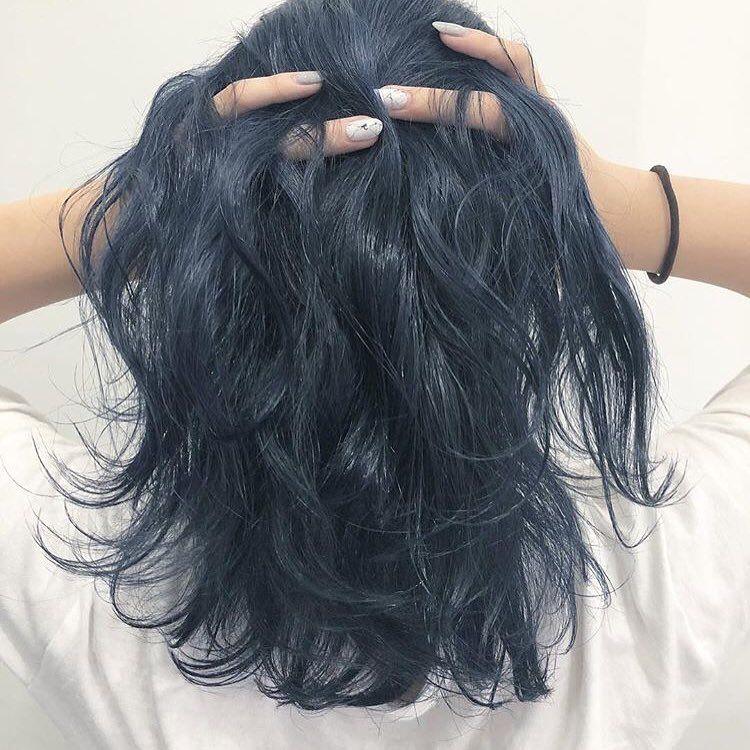 ネイビーブルー 色落ちも楽しめるカラーになっています カットダブル
