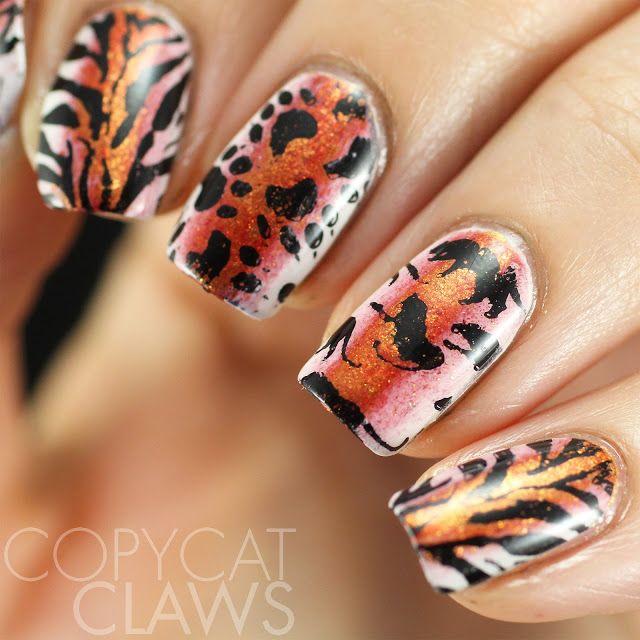 Lina Nail Art Supplies Review Tiger Nail Stamping Nails
