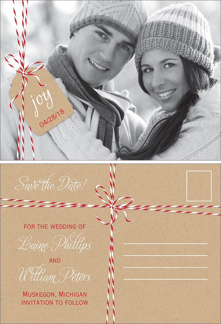 Bakers Twine - Holiday Postcard Save the Date | Save The Date Trends ...