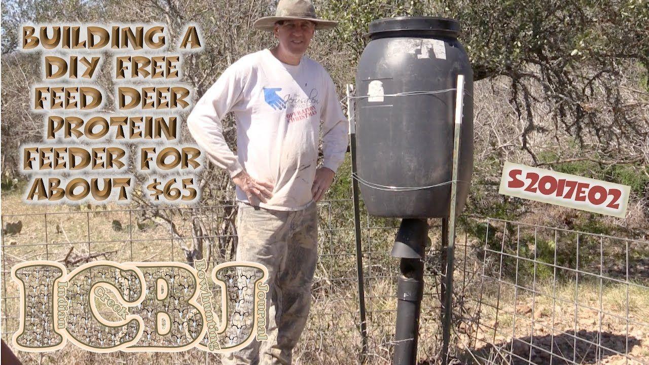 Protein Pellet Deer Feeder DIY 65 55 Gal drum ICBJ