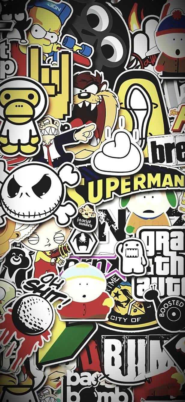 Graffiti Wallpaper iPhone Funny #darkwallpaperiphone