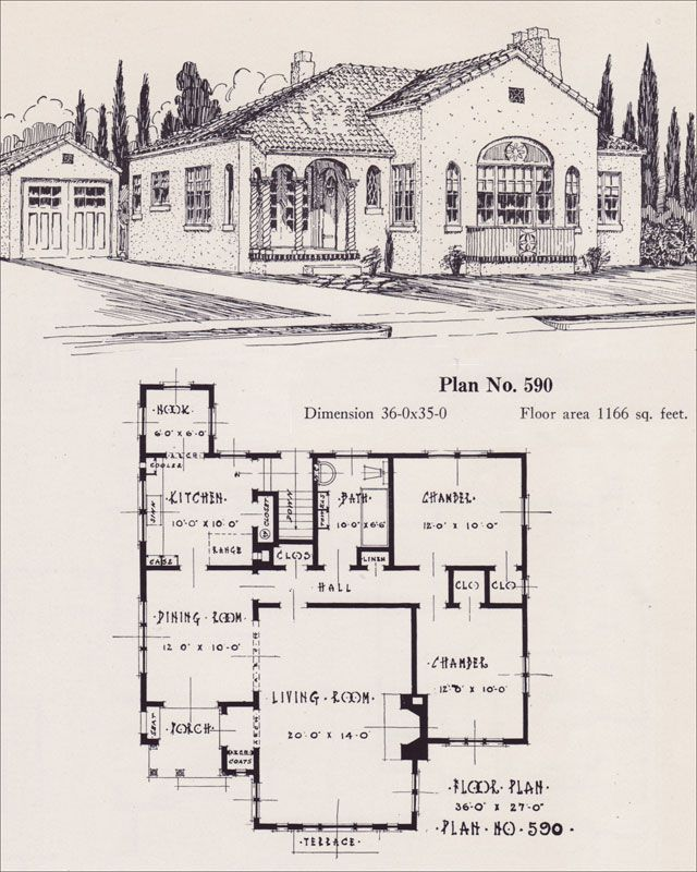 Spanish Revival Style Home 1926 Universal Plan Service No 543 House plans Portland Homes