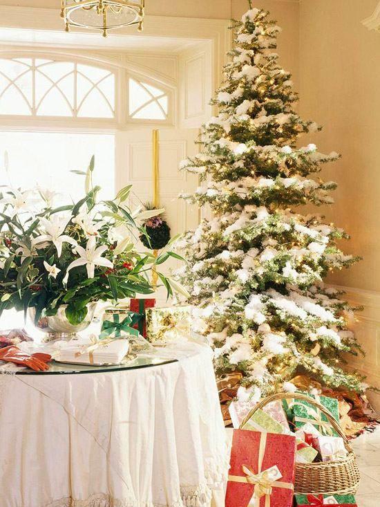 weihnachtsbaum kunstschnee lichterketten schm cken. Black Bedroom Furniture Sets. Home Design Ideas